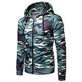 Herren Hoodie,TWBB Camouflage Casual Kapuzenpullover Outwear Mit Pocket Slim Pullover Oberteile Lange Ärmel Mantel Sweatjacke