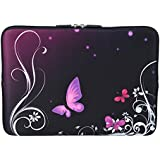 "MySleeveDesign Notebook Sleeve Laptop Neoprene Soft Case Pouch 10.2"" / 11.6"" - 12.1"" / 13.3"" / 14"" / 15.6"" / 17.3"" - SEVERAL DESIGNS - Butterfly Light [11 - 12]"