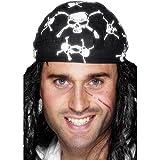 Smiffys Totenkopf und Piraten Bandaner (Einheitsgröße) (Schwarz/Weiß)