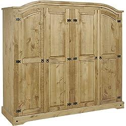 Seconique Mercer's Furniture Corona Armoire 4Portes