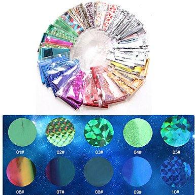 MZP 1 Autocollant d'art de clou Bijoux pour ongles Autocollants 3D pour ongles Maquillage cosmétique Nail Art Design