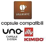 300 Cialde Capsule Caffe Compatibile Uno System Indesit Kimbo Illy Espresso Kap Lollo miscela Nero