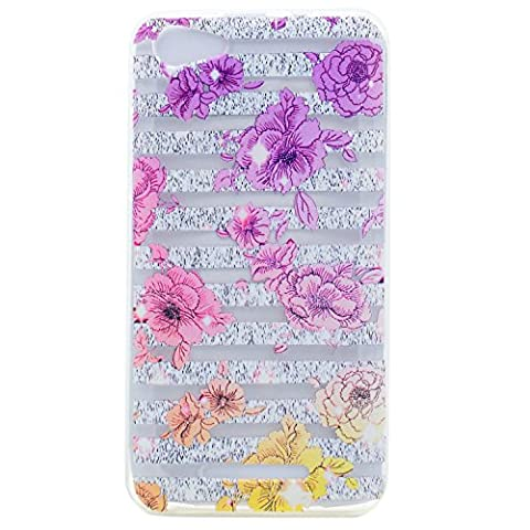 Lonchee Wiko Jerry Case Cover, Color printing pattern Transparent Clear