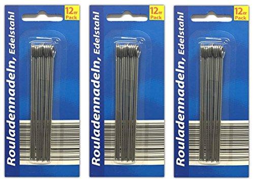 HAC24 36 Stück Nadeln für Rouladen Rouladennadeln Rouladenspieße Fleischnadel