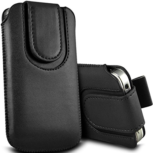 62f820e4647 Digi Pig - Apple iPhone 5s Durable Pull Tab Pouch with Magnetic Flap - Black