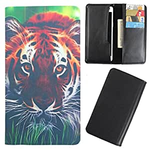 DooDa - For Micromax Canvas Mega PU Leather Designer Fashionable Fancy Case Cover Pouch With Card & Cash Slots & Smooth Inner Velvet