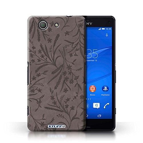 Kobalt® Imprimé Etui / Coque pour Sony Xperia Z3 Compact / Bleu/Rose conception / Série Motif floral blé Gris