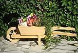 Holz-Schubkarre zum Bepflanzen, Blumentöpfe, Pflanzkübel, Pflanzkasten, Blumenkasten, Pflanzhilfe, Pflanzcontainer, Pflanztröge, Pflanzschale, Schubkarren 100 cm HSC-100-GEFLAMMT Blumentopf, Holz, geflammt gebrannt amazon schwarz - natur Gartendeko Pflanzgefäß, Pflanztöpfe Pflanzkübel