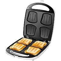 UNOLD SANDWICH-TOASTER Quadro, 4 Toasts, 4er, XXL Sandwichmaker, 1.100 W, Antihaftbeschichtung, 48480