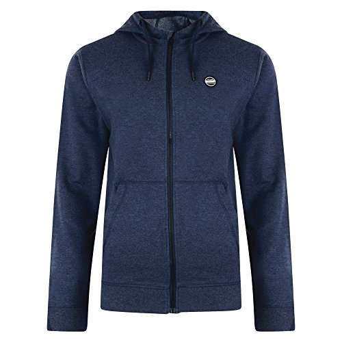 Dare 2b Mens Observant Polyester Cotton Drawcord Ribbed Cuff Hoodie Peacoat Blue
