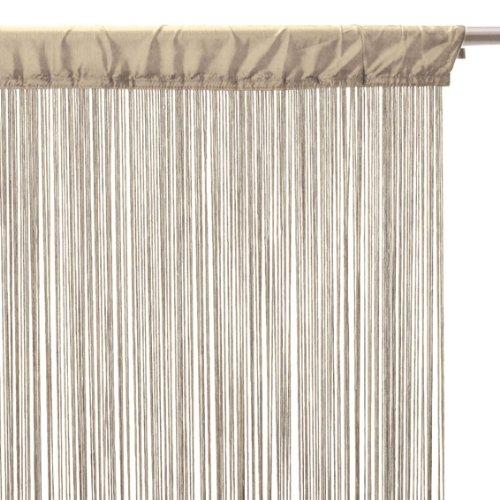 CORTINA DE HILOS color LINO beige - 90 X 200cm.