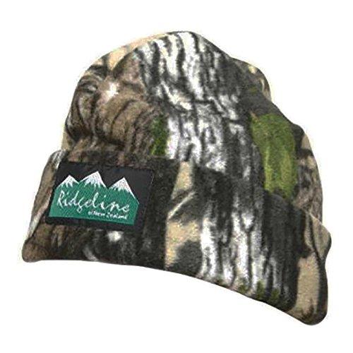 Ridgeline Hunters 3 Layer Fleece Beanie Cap Buffalo Camo Camping Shoot -