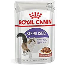 ROYAL CANIN Comida para Gatos Sterilised 12 * 85gr