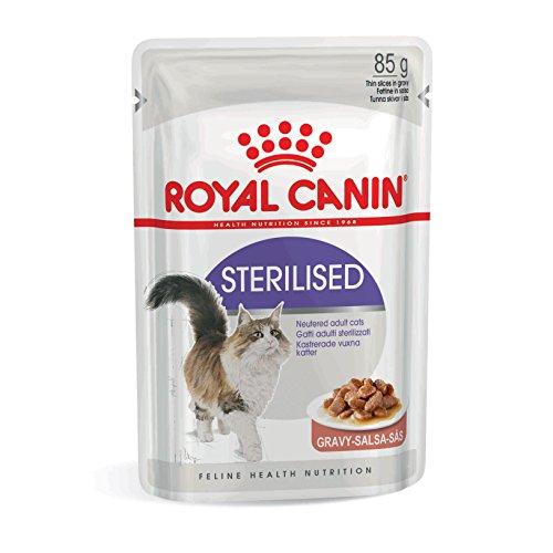 ROYAL CANIN Sterilised Comida para Gatos - Paquete de 12 x 85 gr - Total: 1020 gr