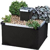 Blagdon alluminio e Textilene Liberty Caratteristica Giardino / Giardino / piantatrice del fiore in finitura nera