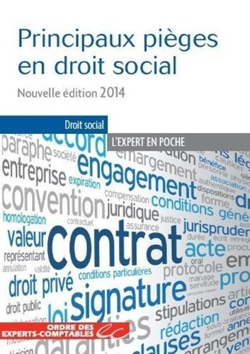 Principaux pièges en droit social - Nouvelle édition 2014
