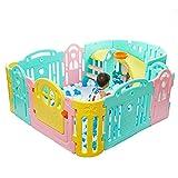 Baby Playpen Kids 9 Panel Safety Play Center Yard Inicio Indoor Outdoor Multi Color Kids Área De...