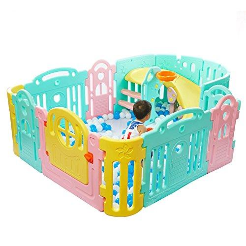 Baby Laufgitter Kinder 9 Panel Sicherheit Spiel Center Yard Home Indoor Outdoor Multi Color Kinder Aktivitätsbereich ( größe : 9-Panel large )