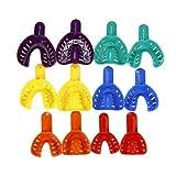 12 Teile/satz Dental Moulage Fach Kunststoff U Form Zähne Halter Zahnschalen Zahnaufhellung Forminstrument