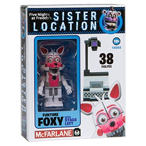NEW! Five Nights at Freddy's Sister Location Construction Set - Fun Time Foxy With Stage Left - 38 Pieces