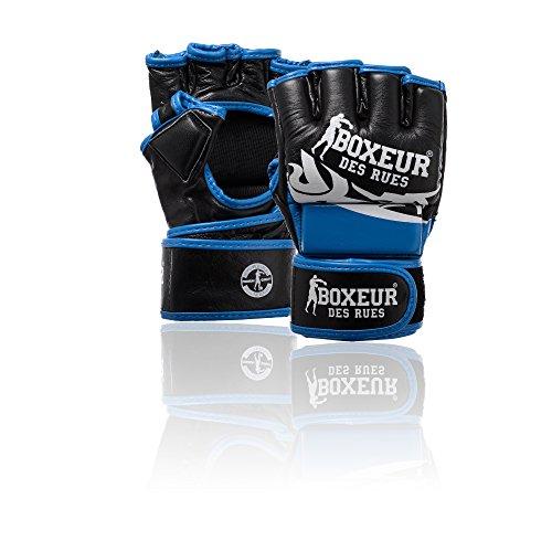 BOXEUR DES RUES Fight Sportbekleidung Handschuhe MMA Tribal L blau Preisvergleich