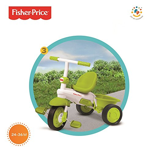 Fisher Price 3 In 1 Green Classic Trike Grows With Your Child Stroller Tricycle