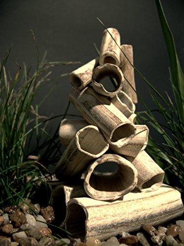 Aquanetta Stack of Tubes for Aquarium Inhabitants, 11 x 11 x 12.5 cm(Product Design may vary) 2