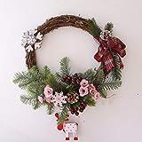 ZHIHUIflower Fiore di Ghirlanda di Natale Decorazione per Appendere la Porta d'ingresso Decorazione Natalizia Centro Commerciale Fiore Artificiale, 1