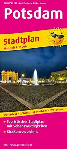 Potsdam: Touristischer Stadtplan mit Sehenswürdigkeiten und Straßenverzeichnis. 1:16000 (Stadtplan / SP)
