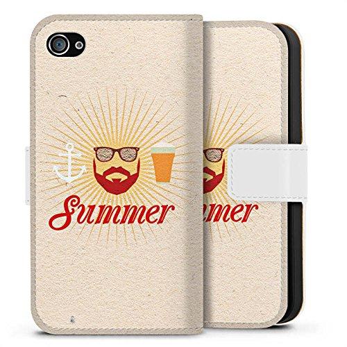 Apple iPhone X Silikon Hülle Case Schutzhülle Sommer Hipster Bart Sideflip Tasche weiß