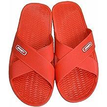 Zapatillas de ducha o piscina antideslizantes, de espuma, para adultos, gris, uk 5-6.5