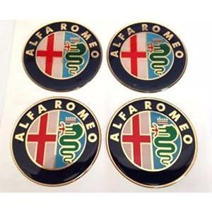 Alfa Romeo ★4 Stück★ 60mm Aufkleber Emblem für Felgen Nabendeckel Radkappen