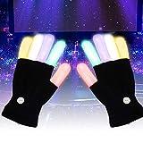 Jannyshop LED Guantes Luces para los Dedos Parpadeantes Guantes de Rave Fiesta de Disfraces de Halloween Fiesta navideña Favores de Fiesta Juguetes iluminados Novedad