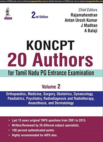 KONCPT: 20 Authors for Tamil Nadu PG Entrance Examination - Vol. 2