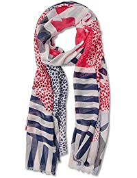 Womens 570562 Scarf, Mehrfarbig (Off White 30108), One Size Street One