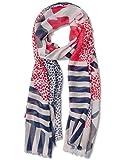 Street One Damen Schal 570554, Mehrfarbig (Off White 30108), One Size (Herstellergröße: A)
