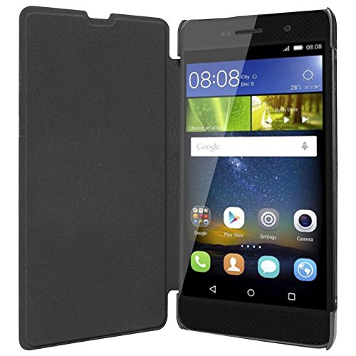 ECellStreet Flip Case Diary Folio Flap Case Cover For Huawei Honor Holly U19 - Black  available at amazon for Rs.195
