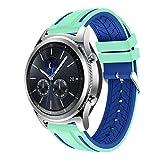 Ansenesna Sport Bracelet Smartwatch Silikon Armband Fitness Tracker Runtastic für Samsung Gear S3 Classic Wasserdicht (Blau)