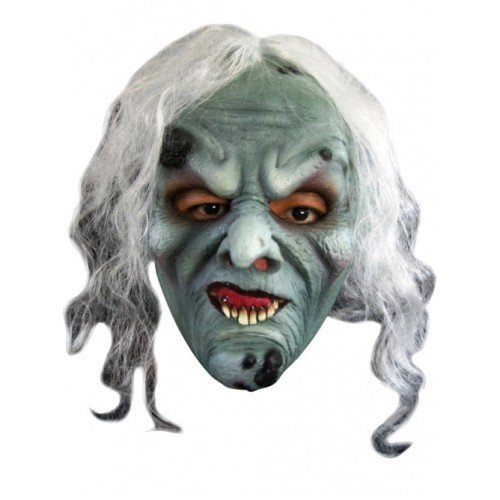 Mask Head Witch Green ()