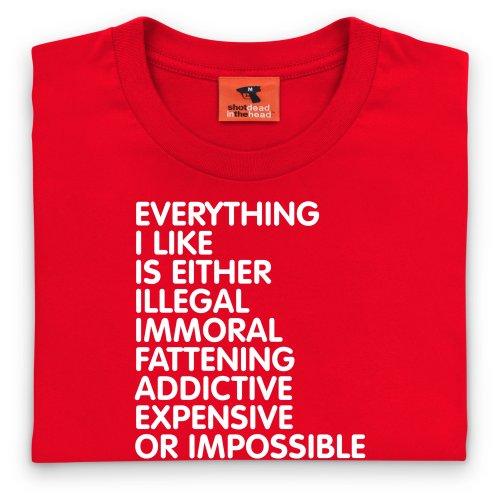 Everything T-Shirt, Herren Rot