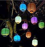 WIM-SHOP 10-STÜCK LED Party Lampion ø 15cm in 5-Regenbogen-Farben Wunderschön
