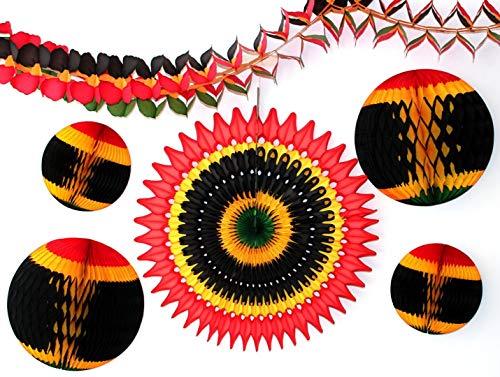 6komplett Kwanzaa Honeycomb Urlaub Dekoration Set