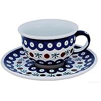 Original bunzlauer–Ceramica–Classico Caffè e tazza da tè con piattino 0.2litri nella parete 41