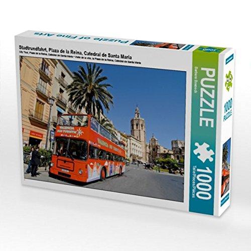 Stadtrundfahrt, Plaza de la Reina, Catedral de Santa Maria 1000 Teile Puzzle quer