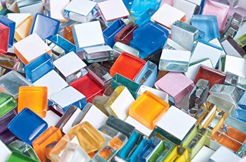 Rayher set tessere per mosaico tasselli in vetro morbido