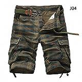 WDDGPZDK Strand Shorts/Männer Shorts Fashion Plaid Beach Shorts Mens Casual Camo Camouflage Hosen Militärischen Kurze Hosen Männlichen Cargo Overalls, Army Green, 38