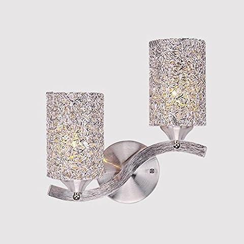 Simple Y Moderna Personalidad Creativa LED Solo Cabeza Aluminio Lámpara De Pared Dormitorio Vestíbulo Vestíbulo Pasillo Entrada Hotel Alambre Tejido Tejido Sombra Anti-oxidación