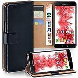 moex Samsung Galaxy A5 (2016) | Hülle Schwarz mit Karten-Fach 360° Book Klapp-Hülle Handytasche Kunst-Leder Handyhülle für Samsung Galaxy A5 2016 Case Flip Cover Schutzhülle Tasche
