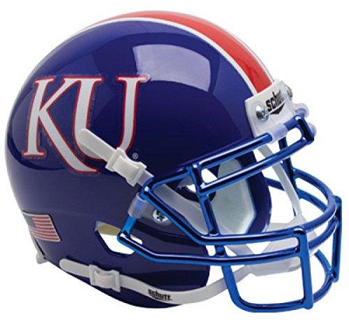 Schutt NCAA Kansas Jayhawks Mini Authentic XP Fußballhelm, Unisex, NCAA Kansas Jayhawks Mini Authentic XP Football Helmet, KU Alt. 6, Mini
