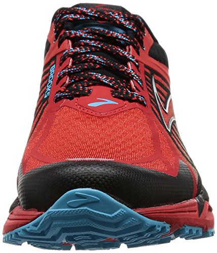 Brooks Caldera, Scarpe da Corsa Uomo Multicolore (Highriskred/Black/Aquarius)